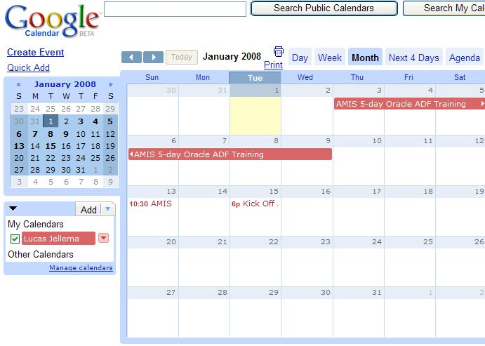 Accessing Google Calendar from Oracle ADF Application – Displaying Events in Gantt Chart