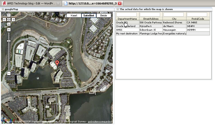 ADF 11g RichFaces – Creating a googleMaps Mashup Part I: clientListeners and clientAttributes