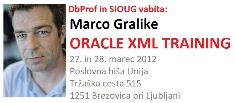 Oracle XML Training With Marco Gralike