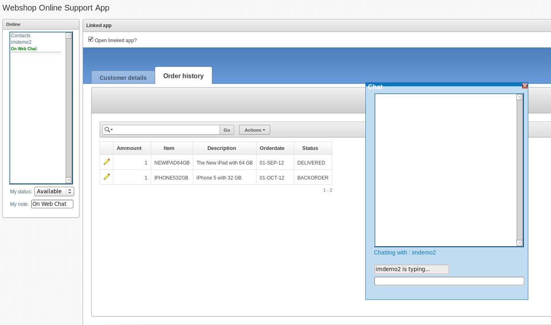 WebshopsupportApp