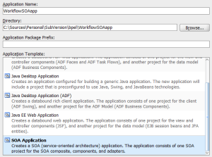 Create a new SOA Application