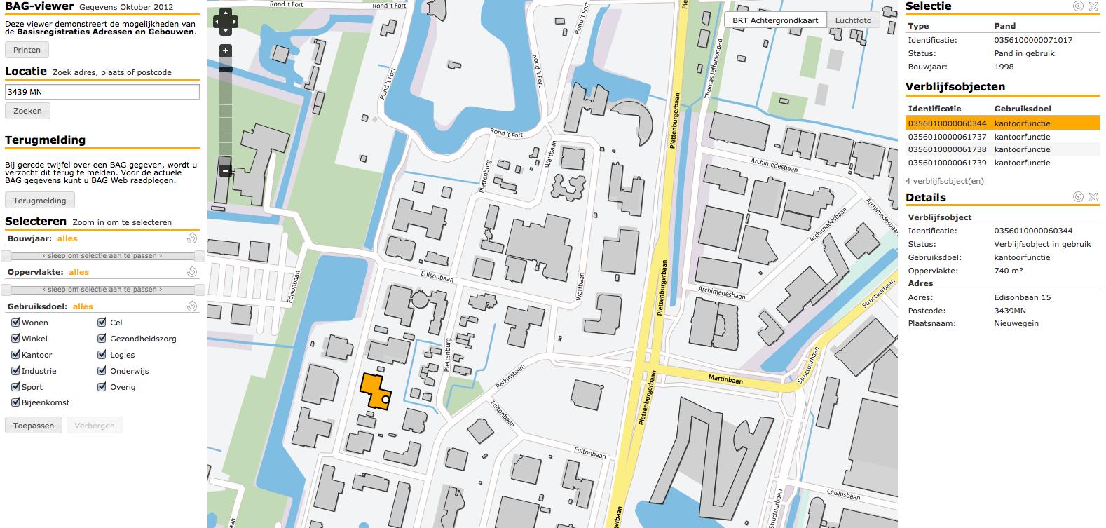 Basisregistraties Adressen en Gebouwen – Het importeren van Kadaster BAG data in een Oracle Database