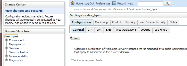 Creating an hierarchical user structure in embedded LDAP of weblogic