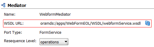 mediator uses WSDL from MDS