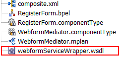 wrapper WSDL with partnerlink