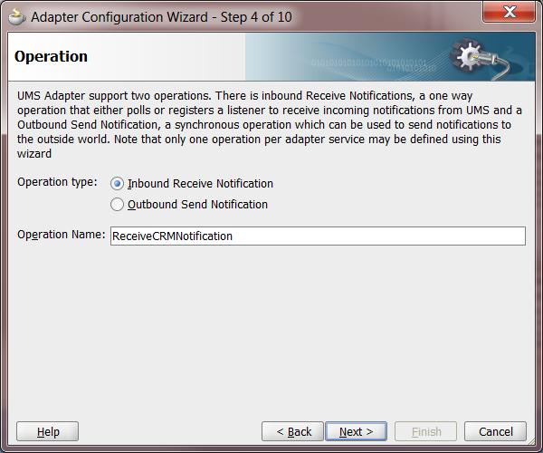 UMS Step 4: Operation Type (Inbound)