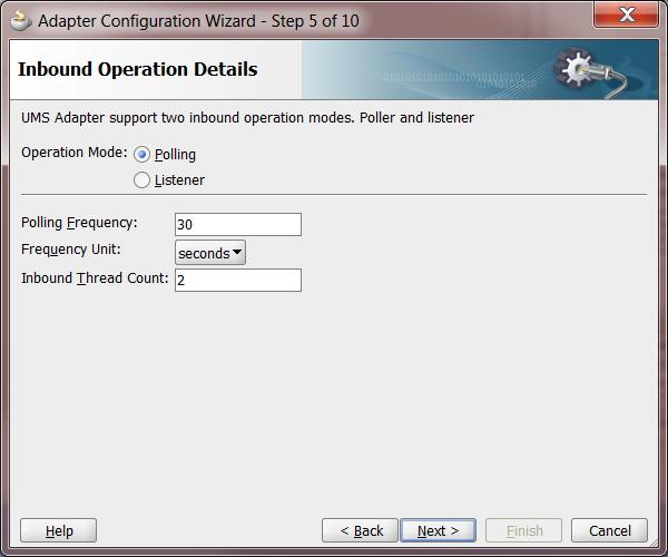 UMS Step 5: Operation Details (Poller Interface)