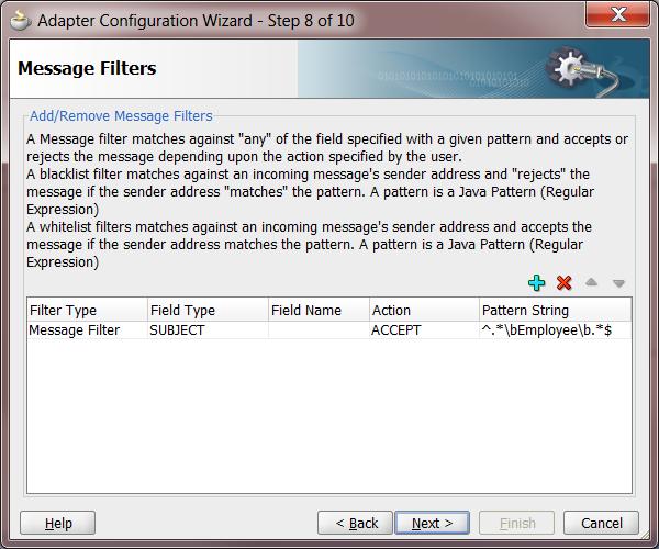 UMS Step 8: Message Filter
