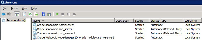 Weblogic as a windows service