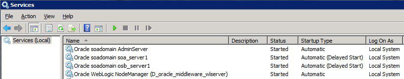 Weblogic as a windows service
