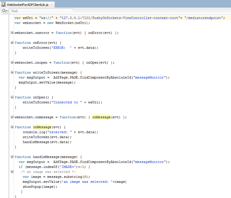 ADF 12c: Using WebSockets to implement client to client push