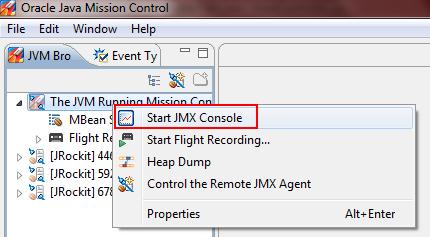 start JMX console