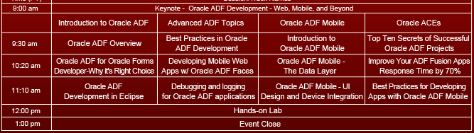 Oracle ADF Virtual Developer Day 2013