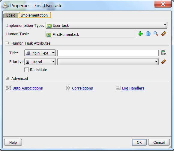 create task implementation