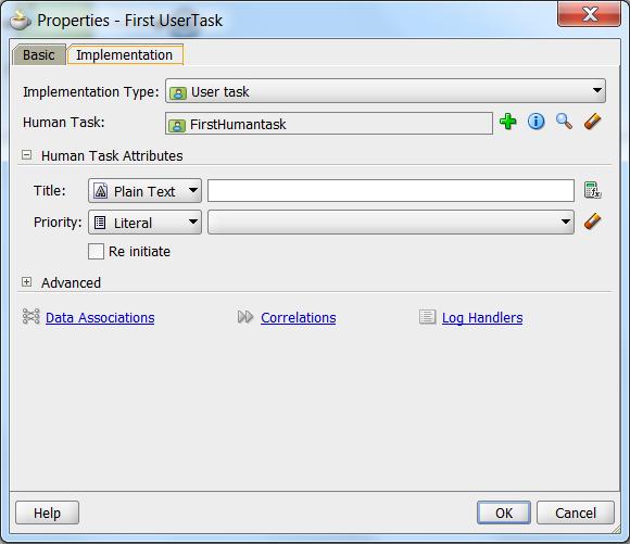 create task implementation