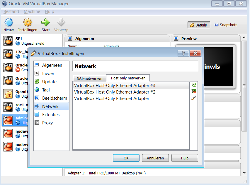 A short guide to networking in Virtual Box with Oracle Linux