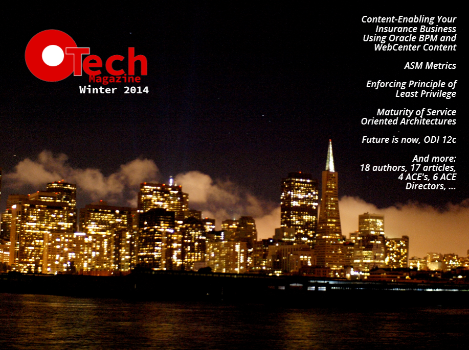 Winter edition of OTech Magazine has just been published – free yet rich, in-depth yet broad
