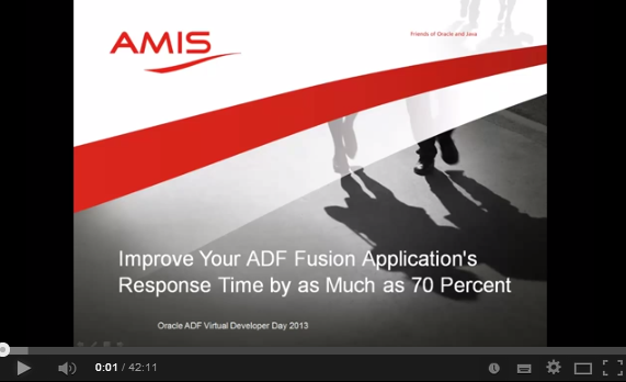 ADF Performance Tuning: Improve Your Oracle ADF App Response Time by as Much as 70 Percent