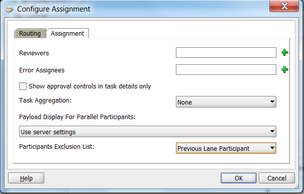 Humantask Assignment: not the same lane participant as previous task (four-eyes principle)