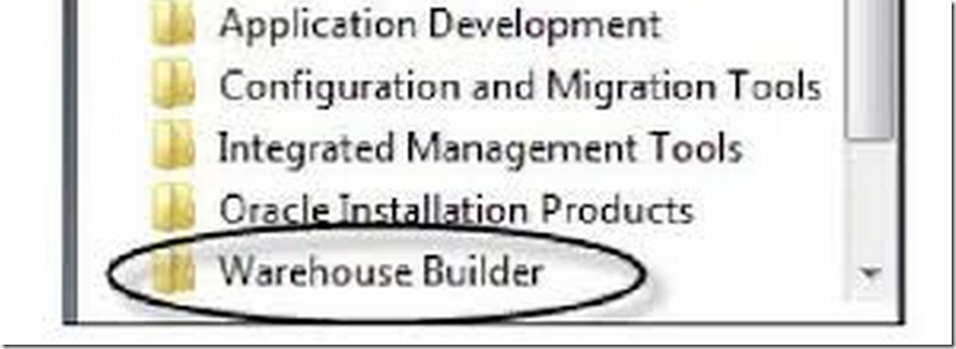 The Performance-button on Oracle Warehouse Builder Design Center