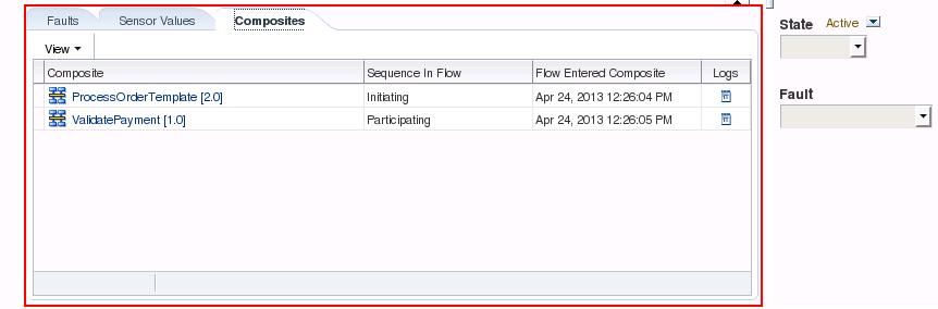 SOA Suite 12c: Instance Dependencies