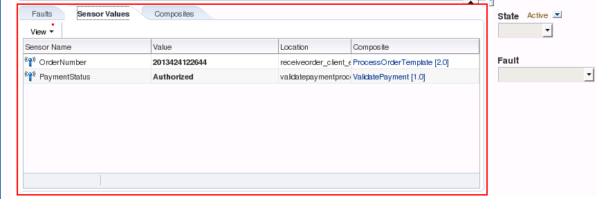 SOA Suite 12c: Instance Sensor Values
