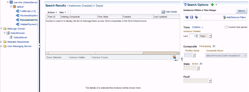 SOA Suite 12c: Composite shows no instances by default