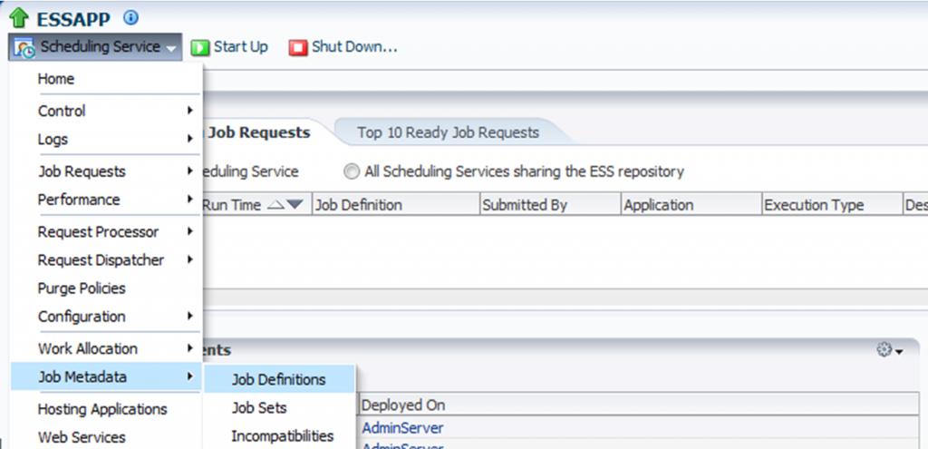 ESS 12c: Schedule jobs using EM
