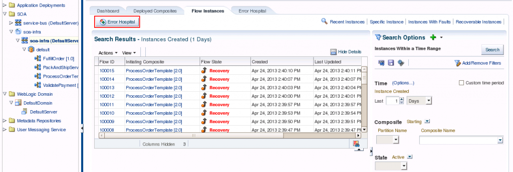 SOA Suite 12c: Recoverable Fault