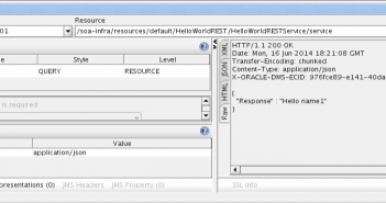 The Accept HTTP header with application/json as value made the service respond JSON