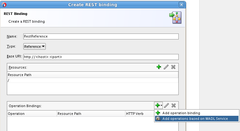 Create REST binding