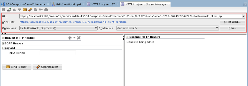 SOA Suite 12c: Testing SOA composite services from JDeveloper using HTTP Analyzer