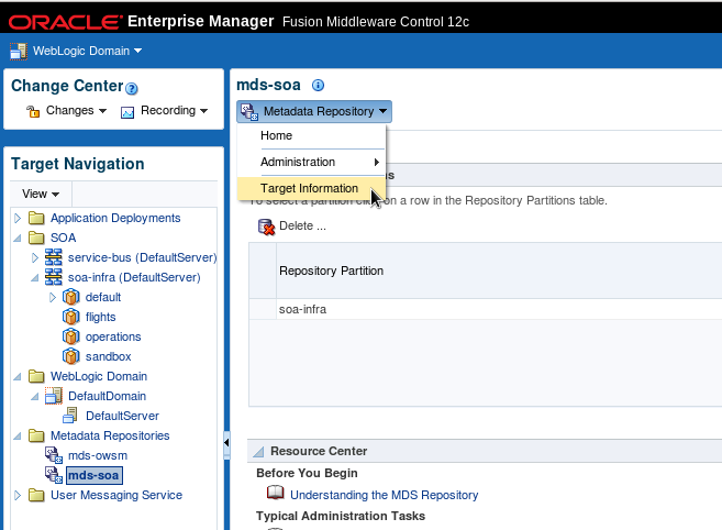 SOA Suite 12c: Inspect and Leverage the contents of the Run Time MDS in the Integrated WLS