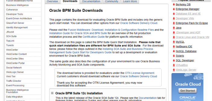BPM Suite 12c: Quick Start installation - 20 minutes and