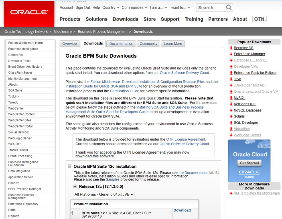 BPM Suite 12c: Quick Start installation - 20 minutes and good to go