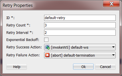 12c Fault Editor: Retry Action