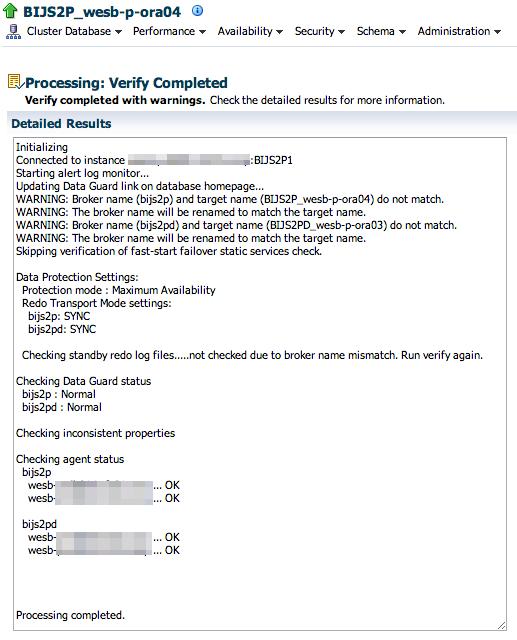 Verify Configuration Results