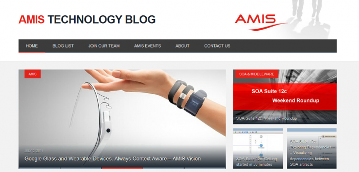 AMIS celebrates the 10th anniversary of the Technology Blog