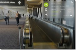 Google Glass corner flight information
