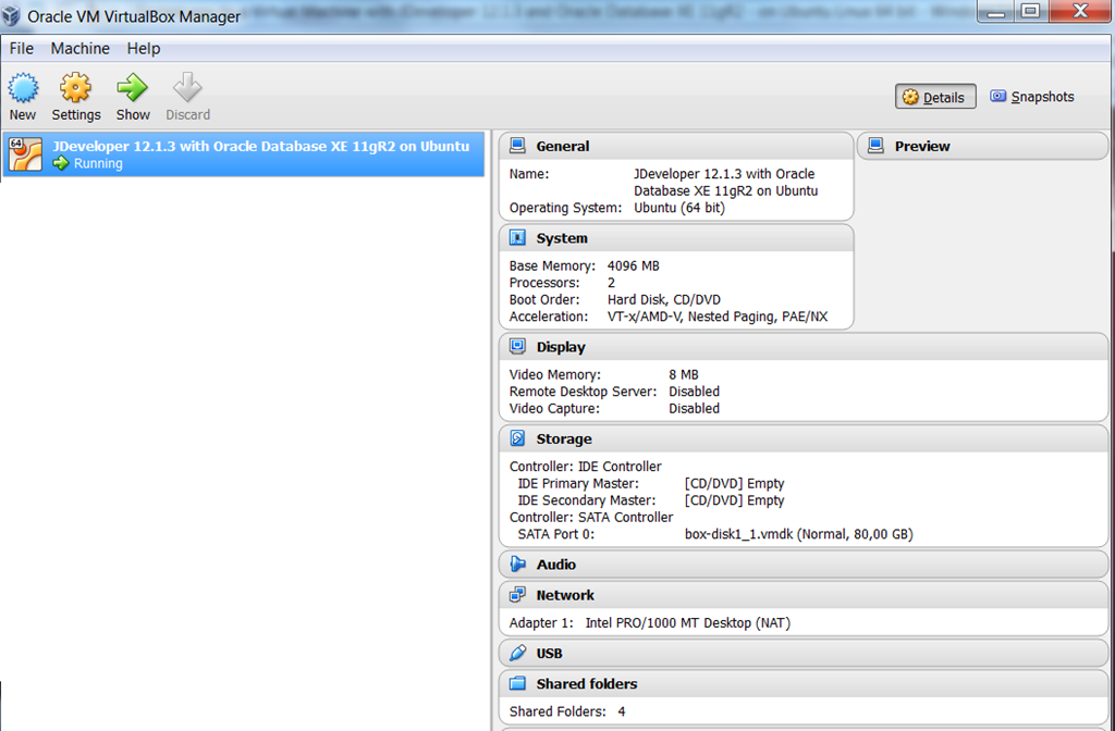 Fastest way to a Virtual Machine with JDeveloper 12 1 3 and Oracle