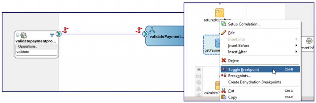 JDeveloper 12c:  Integrated SOA/OSB debugger