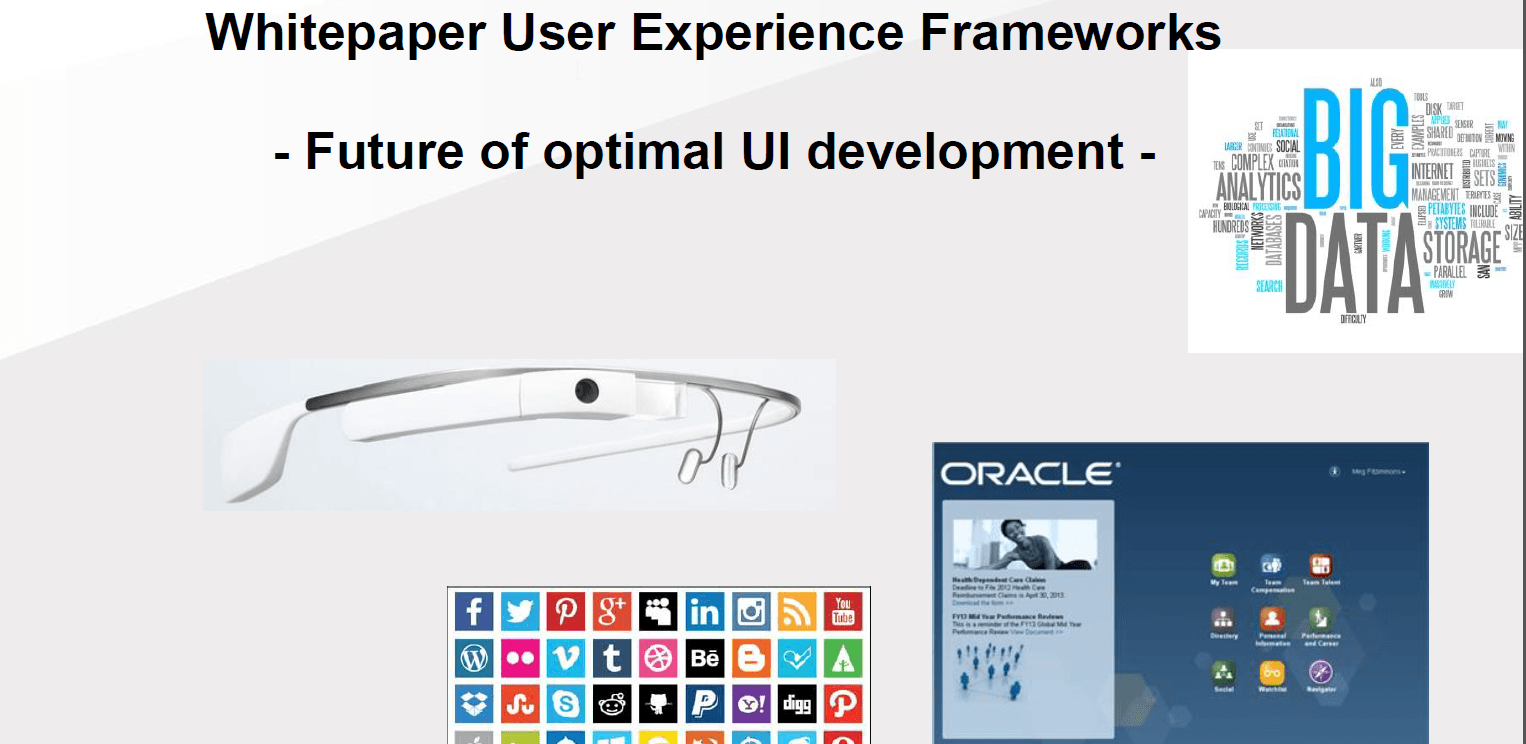 "AMIS Whitepaper User Experience Frameworks ""Future of optimal UI development"""