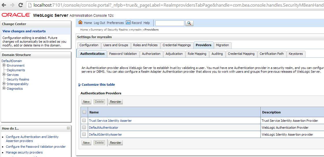 LDAP and Weblogic: Using ApacheDS as auth-provider