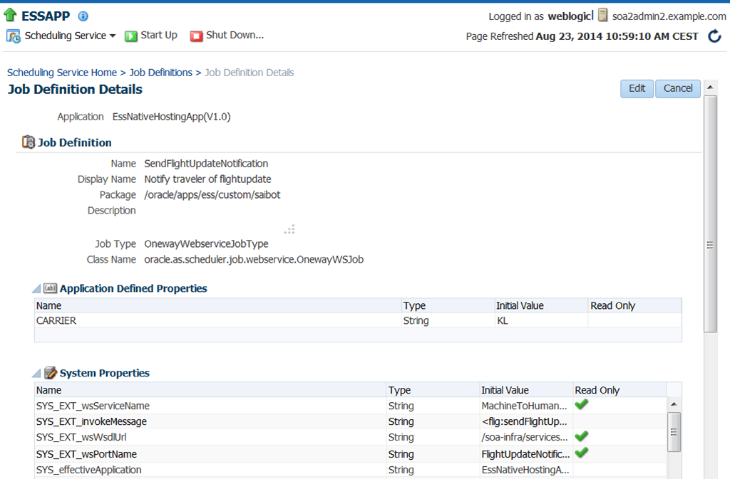 SOA Suite 12c: Invoke Enterprise Scheduler Service from a BPEL process to submit a job request