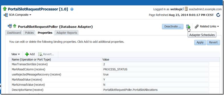 SOA Suite 12c: Using Enterprise Scheduler Service to
