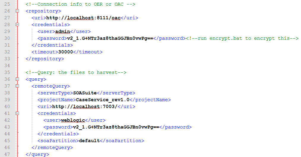 OAC12c: Change Harvester Settings in supplied XML configuration