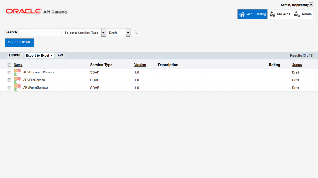OAC12c: Search on draft for freshly harvested APIs