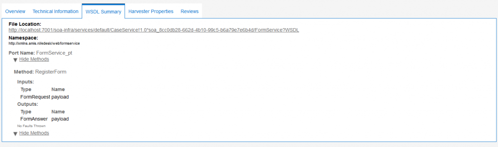 OAC12c: Tabbed view of API asset details