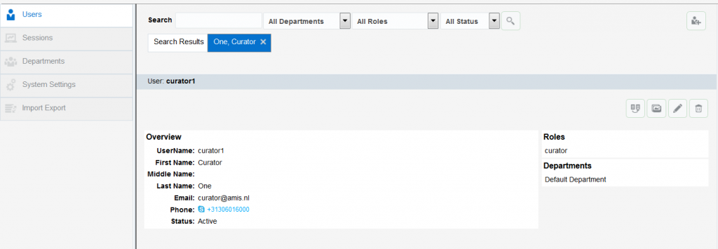OAC12c: User details and actions