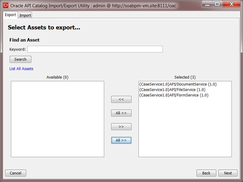 OAC12c: Import/Export Tool